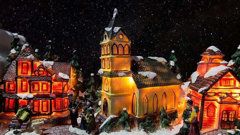 how to set up a christmas village