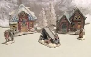 HO scale Christmas village