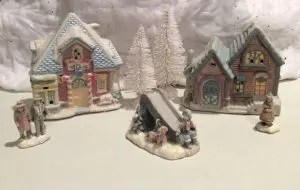 HO scale Christmas village
