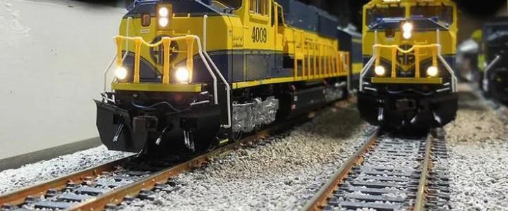 How big is an HO scale train?
