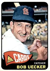 baseball error cards - 1965 Topps Bob Uecker
