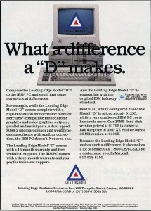 Leading Edge computers ad