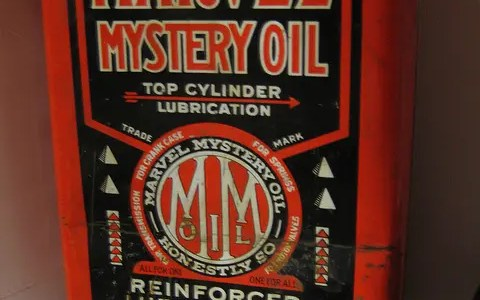 Marvel Mystery oil in a snowblower