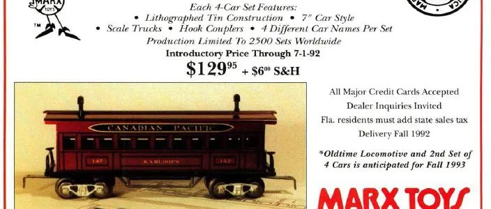 New Marx/Ameritrains trains