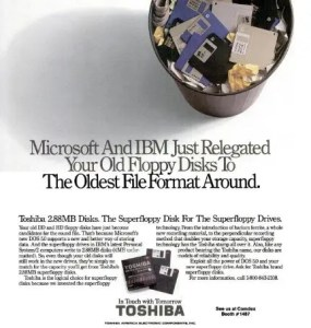 what happened to 2.88 megabyte floppies?
