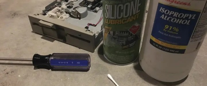 5.25 floppy drive maintenance
