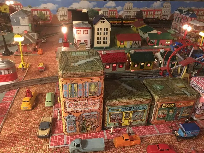 Make your own train layout backdrop