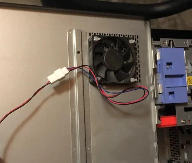 Add a case fan to a Dell Optiplex