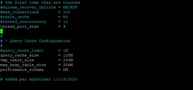 Limit CPU usage in MariaDB