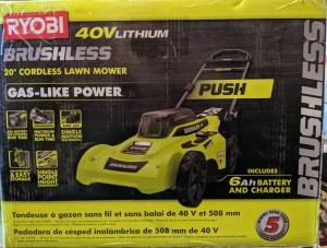Ryobi Brushless 20 in. Walk Behind Push Lawn Mower review
