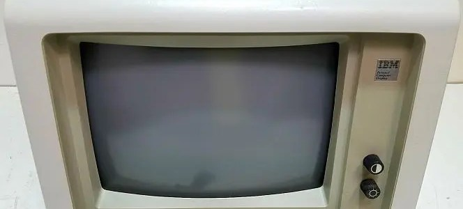 First generation IBM PC monitors