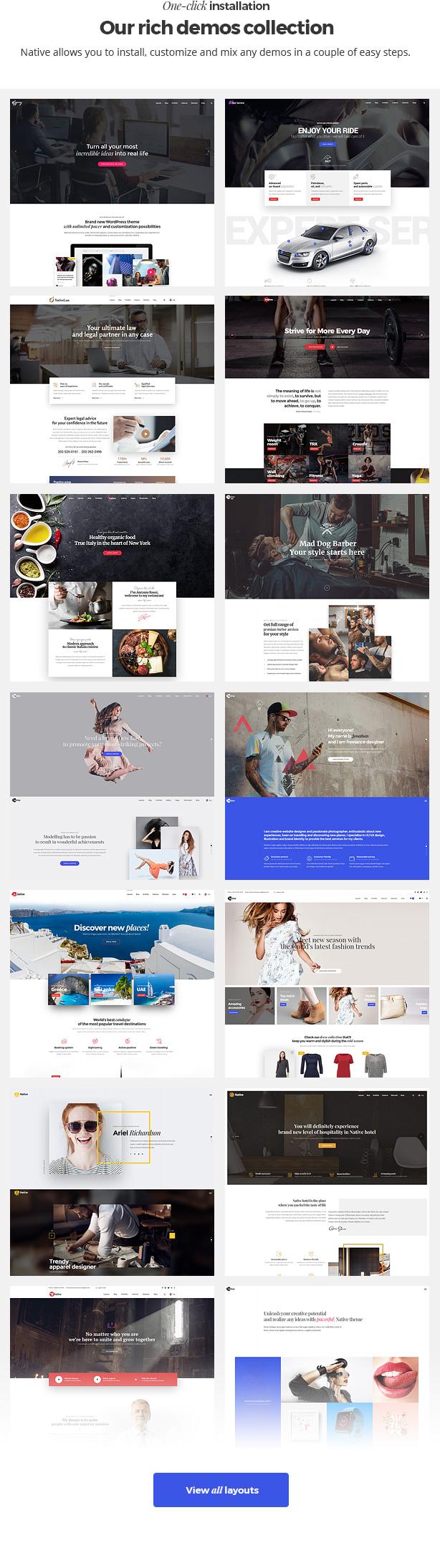 Native - Stylish Multi-Purpose Creative WP Theme - 8