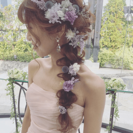 Flower braids make such cute hairstyles for long hair!