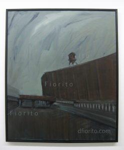 """""""Entrepôt-Van-Horne-08-2013"""". Acrylique sur toile. 40 x 48 po. (102 x 122 cm)."""