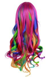 long big wavy gradient women wigs