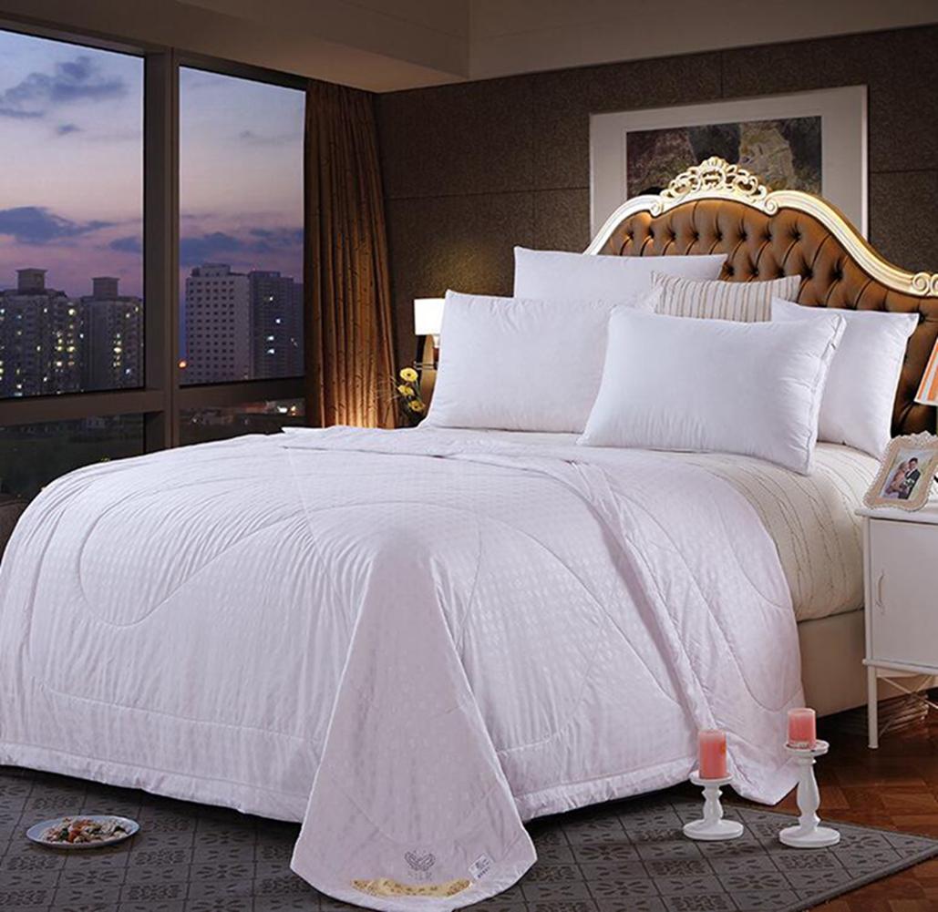 100Mulberry Silk Filled Comforter Quilt Duvet Coverlet