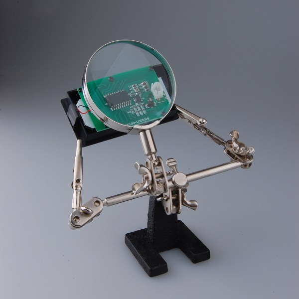 Professional Helping Hand Soldering Stand Magnifier Magnifying Glass 5.0x Lens