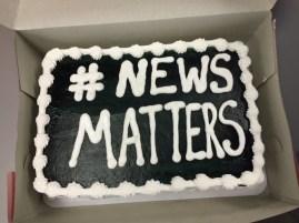 Monterey's #NewsMatters cake.