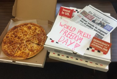 How Quincy Patriot Ledger news workers celebrate Press Freedom Day (Massachusetts).