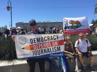 East Bay Times workers on World Press Freedom Day 2017.