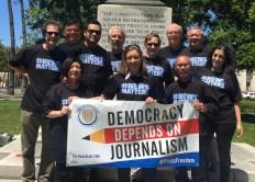 San Jose Mercury News workers on World Press Freedom Day 2017