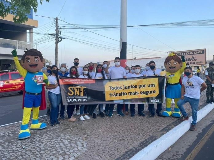 Detran promoveu ações educativas em todo o estado (Foto: Divulgação)
