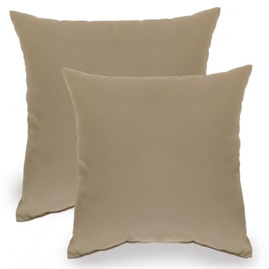 tan indoor outdoor throw pillow set