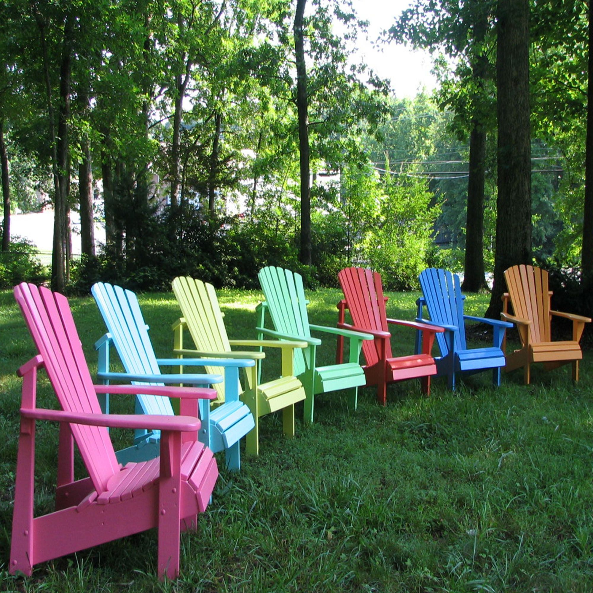 painted adirondack chairs patio swivel rocker classic set of 2 dfohome