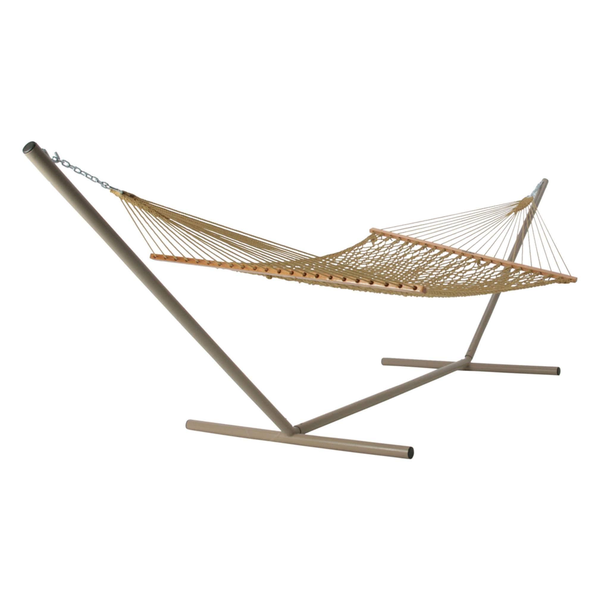 Deluxe Duracord Rope Hammock In Tan