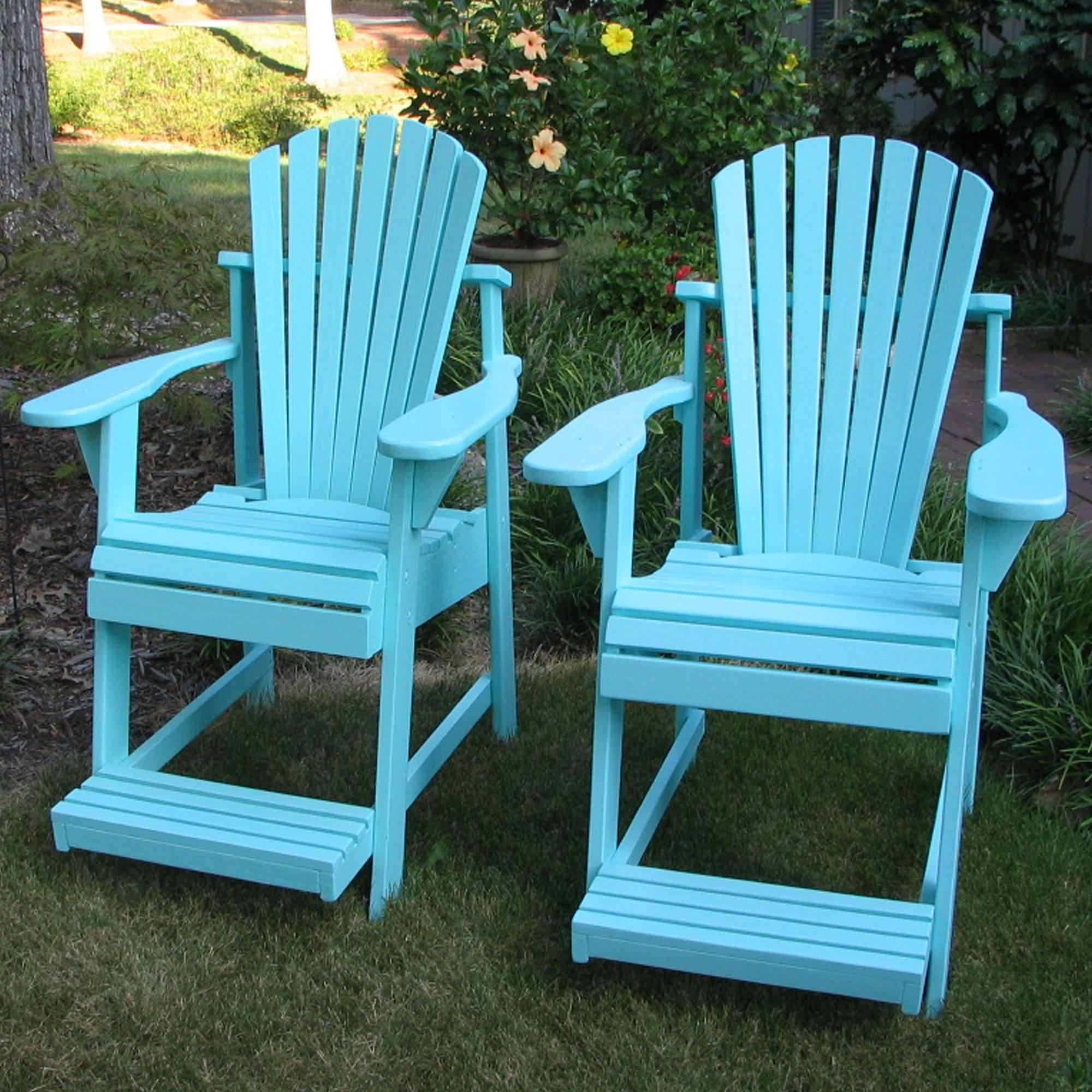 paint for adirondack chairs floor rocking chair target natural and painted balcony pub dfohome