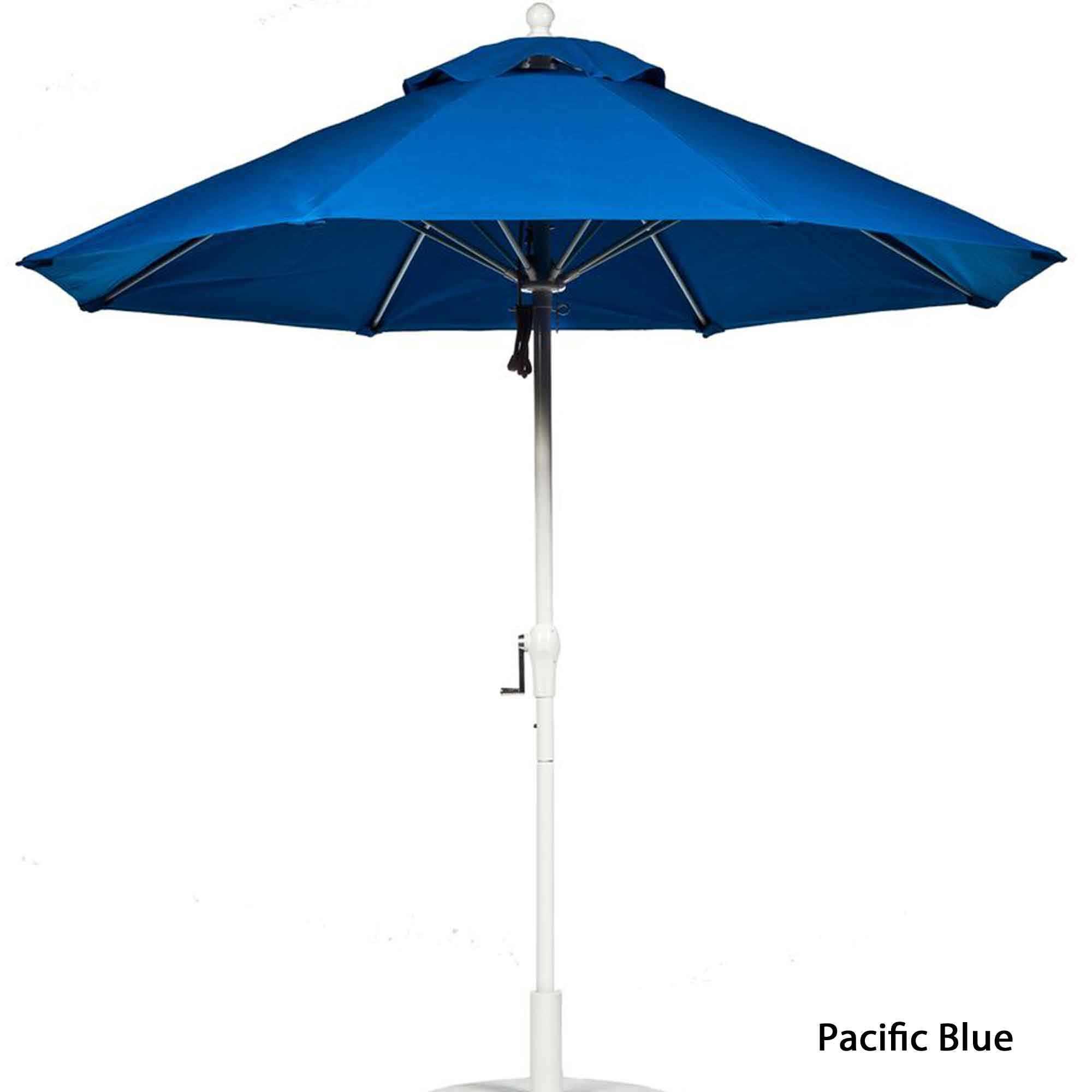 7 FT Patio Umbrella Blue With White Pole