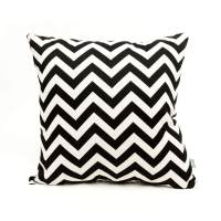 Shop Black Zig Zag Large Outdoor Pillow - Majestic Home ...