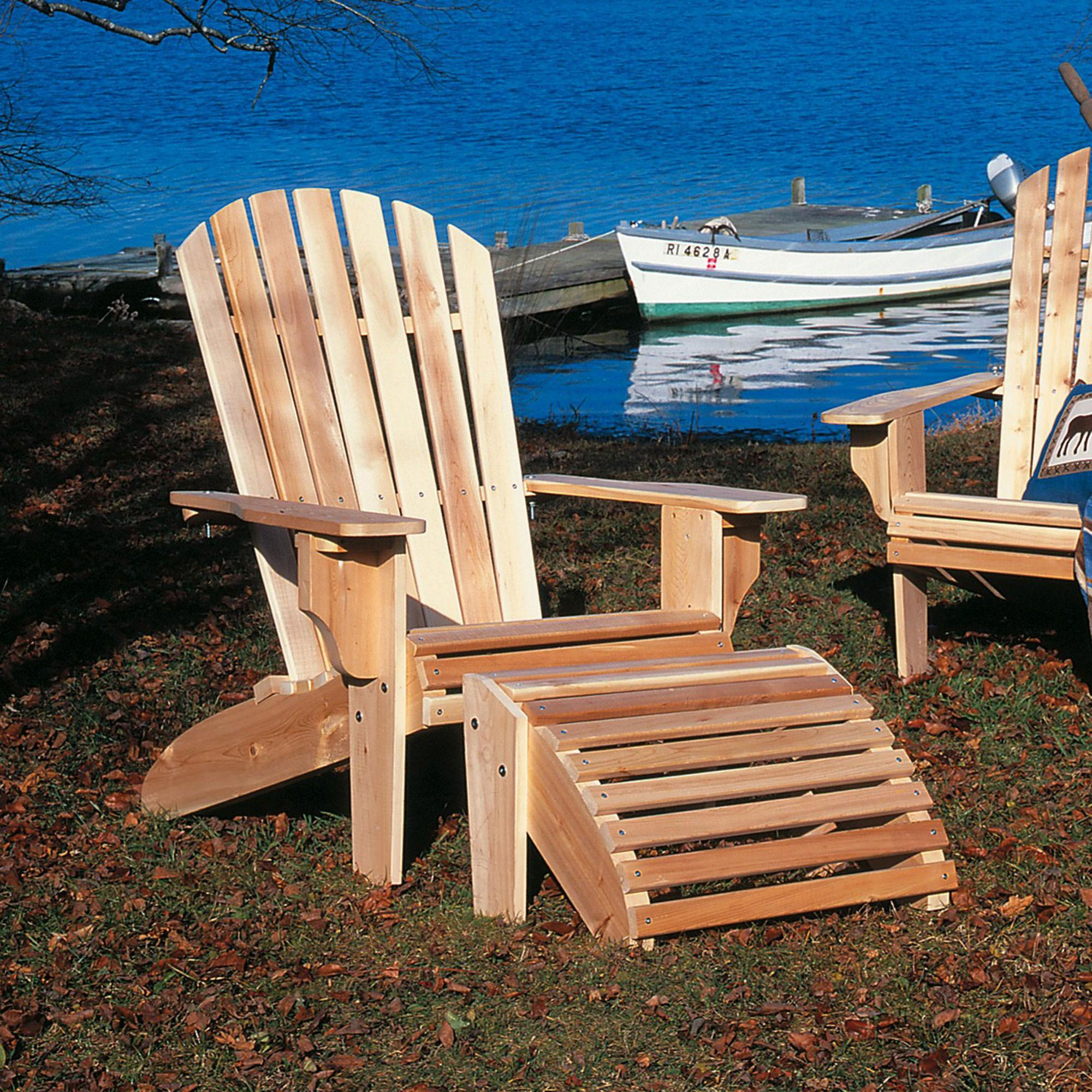 cedar adirondack chairs plans slide under chair table oversized and ottoman dfohome