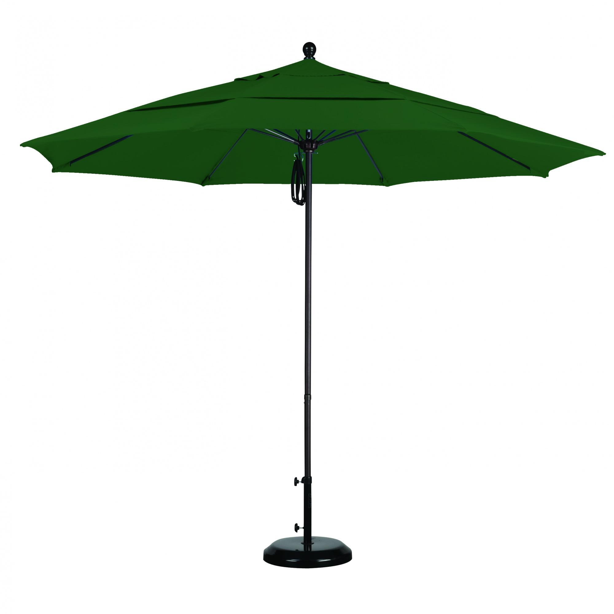 11 Ft Sunbrella Pulley Patio Umbrella with Bronze Pole
