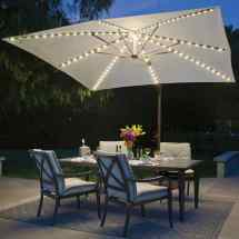 Umbrella Bali Pro 10 Ft. With Starlights In Sky Blue Dfohome