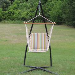 Hanging Chair Big W Kids With Ottoman Single Cushioned Swing Sur Stripe Sw7006