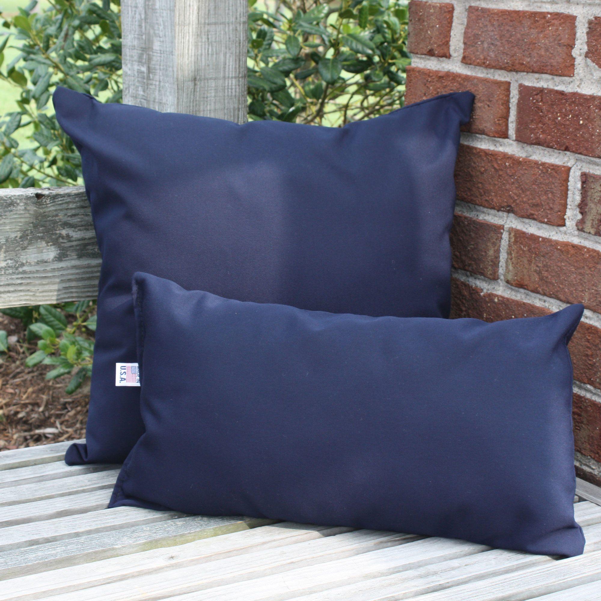 Navy Sunbrella Outdoor Throw Pillow  DFOHome