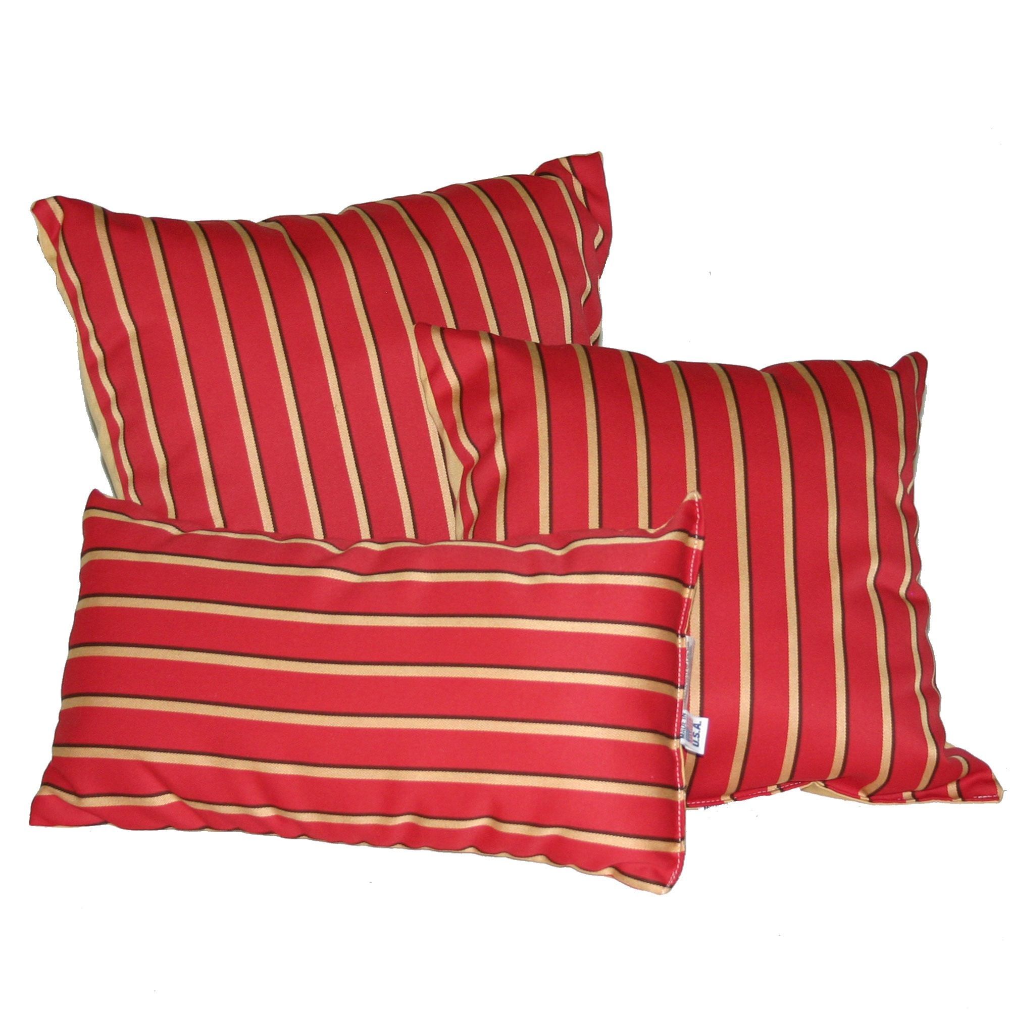 Shop Harwood Crimson Sunbrella Outdoor Throw Pillow