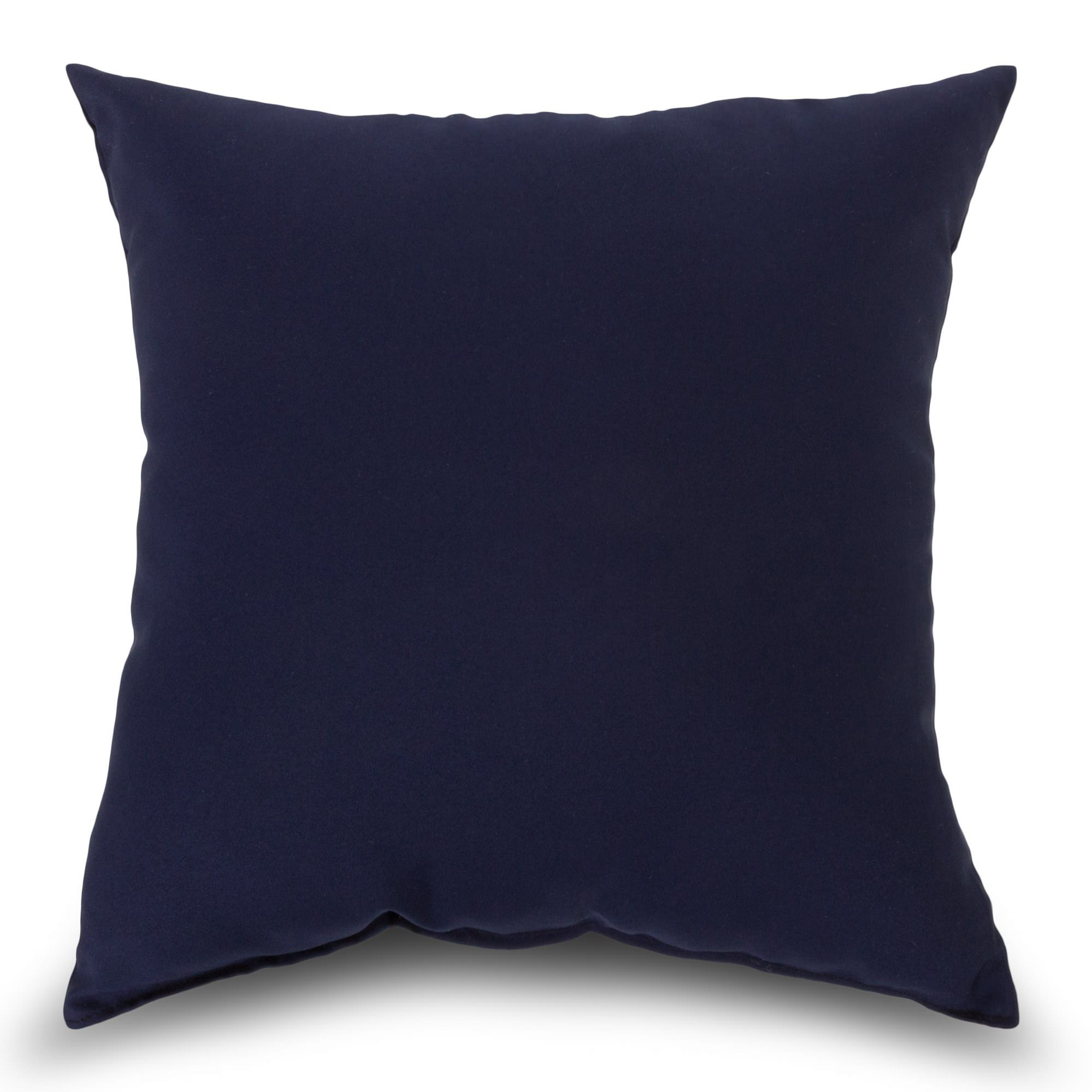 Navy Outdoor Throw Pillow