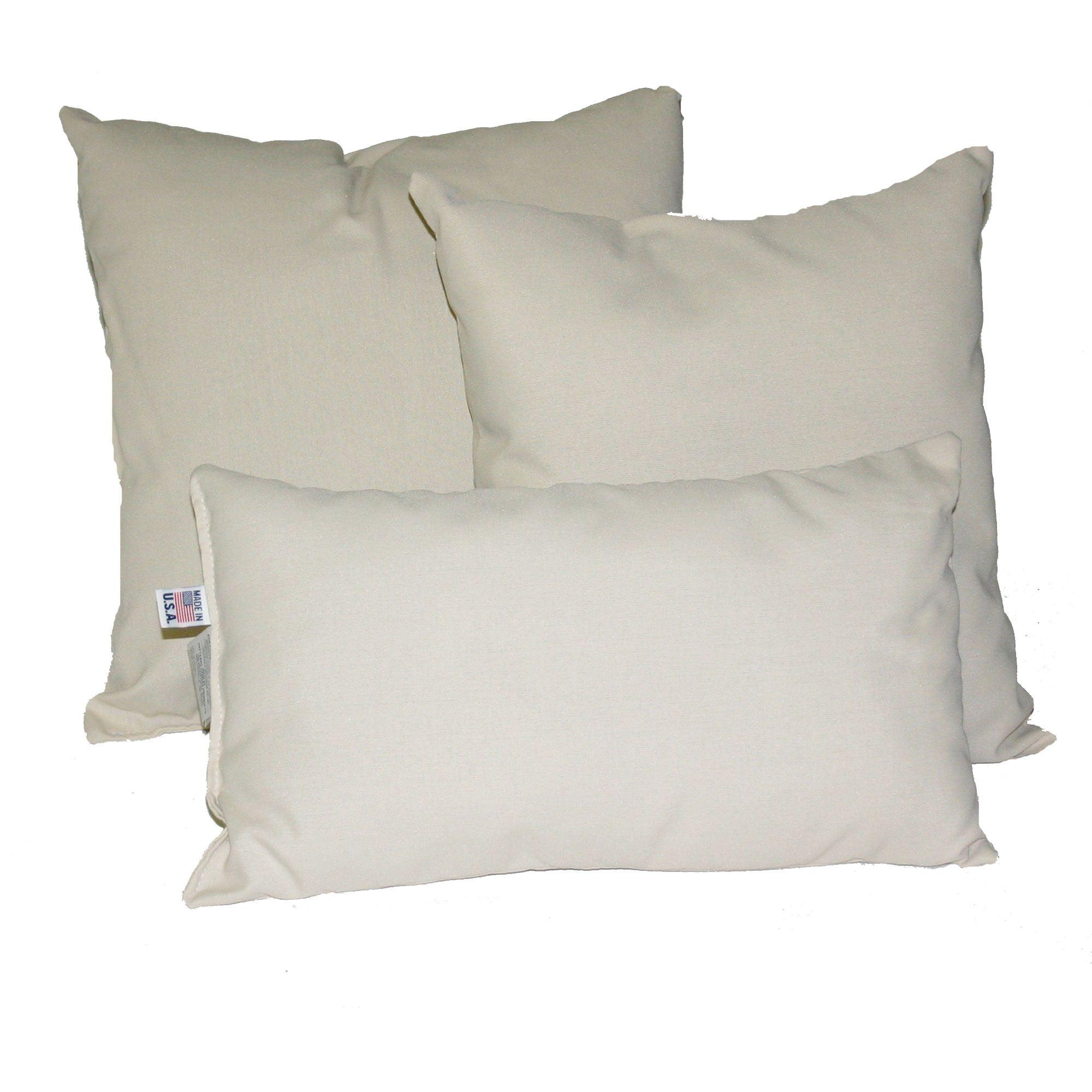 Oatmeal Sunbrella Outdoor Throw Pillow  DFOHome