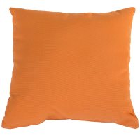 Tangerine Sunbrella Outdoor Throw Pillow | DFOHome