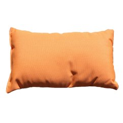 Cream Colored Sofa Pillows Slipcovers For With Separate Cushions Shop Tangerine Sunbrella Outdoor Throw Pillow