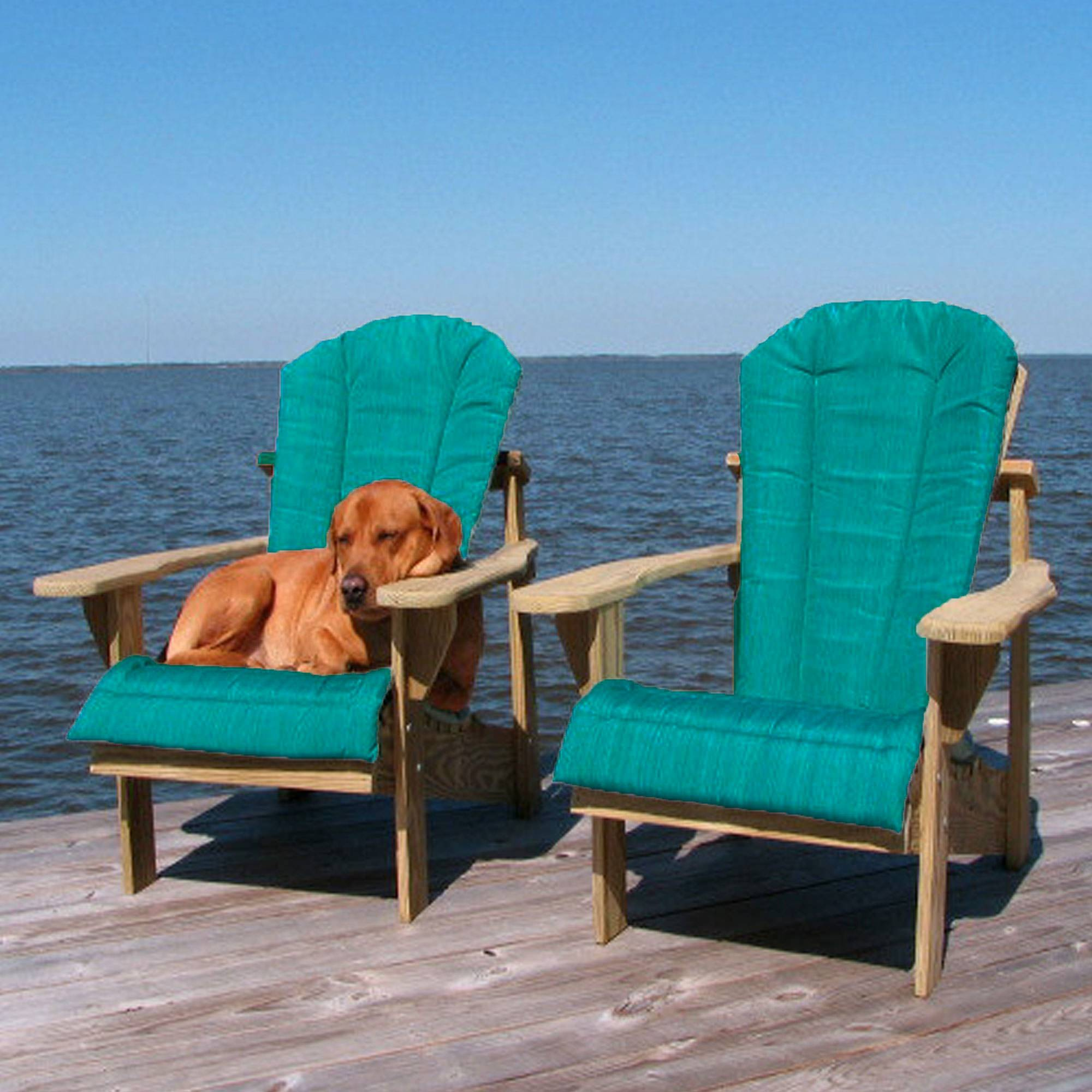adirondack chairs cushions lounge outdoor shop teal chair cushion weathercraft