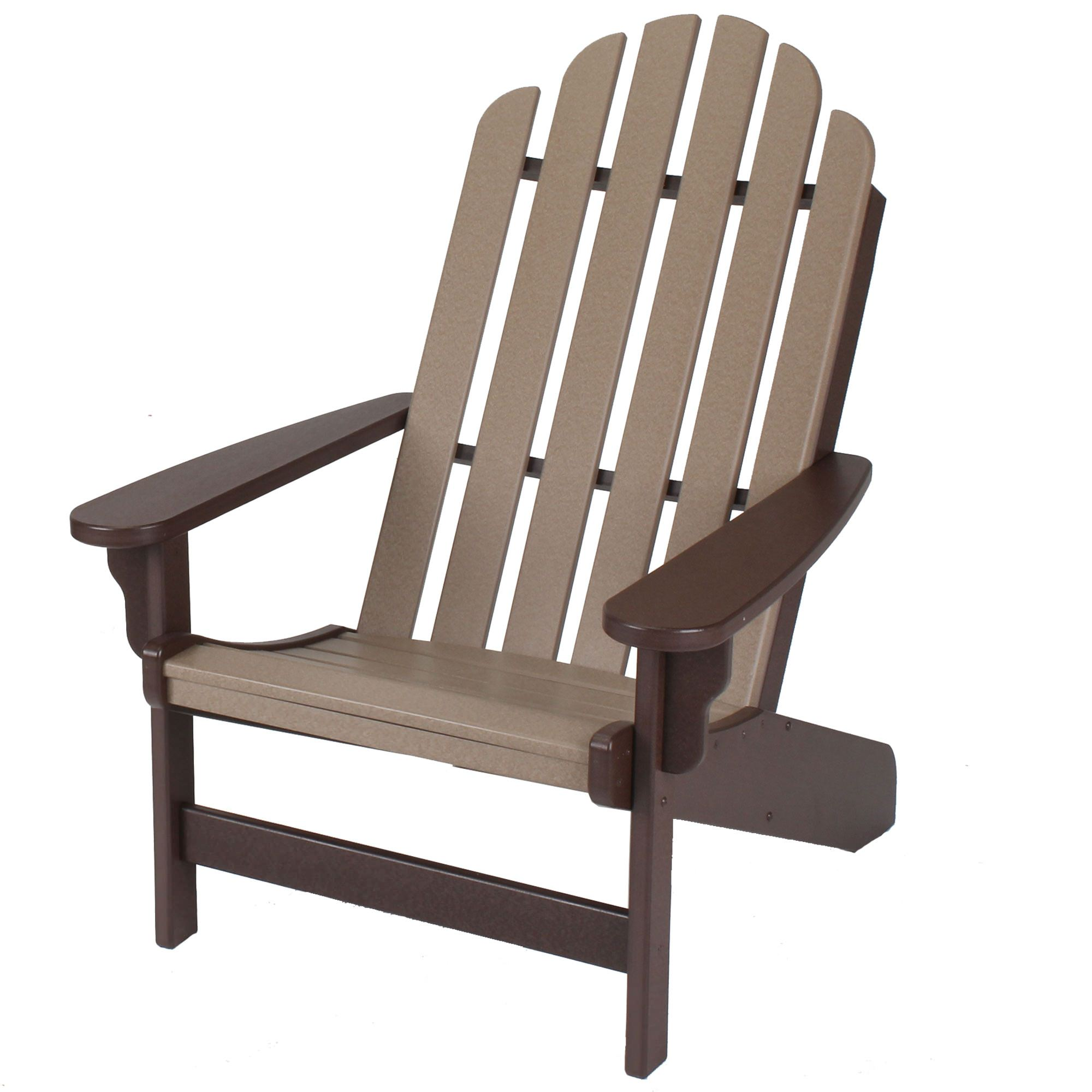 Lifetime Adirondack Chair Essentials Chocolate And Weatherwood Durawood Adirondack Chair