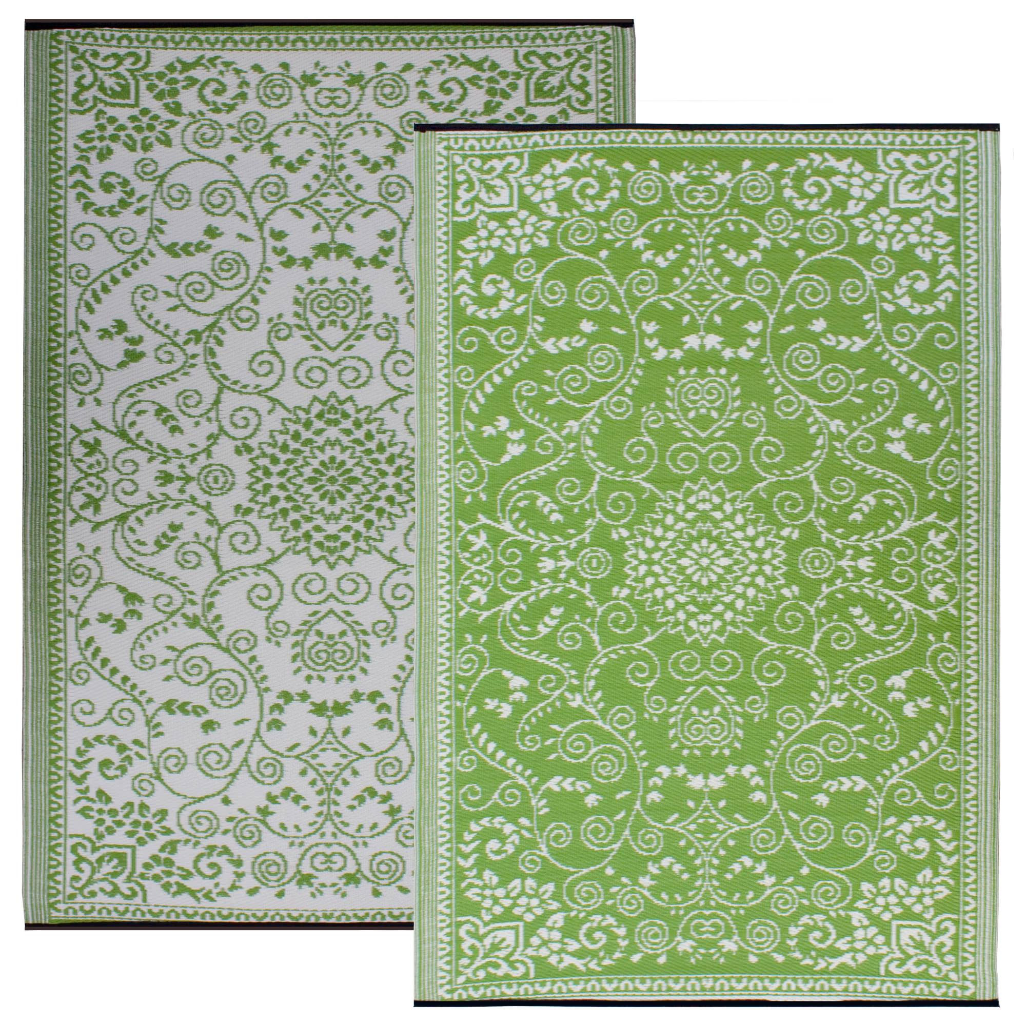 Outdoor Teppich Fabhabitat Murano Lime Green And Cream Outdoor Rug Fab Habitat Dfohome