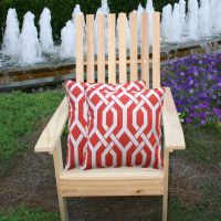 Jiti Red Fork Outdoor Pillow Set | DFOHome