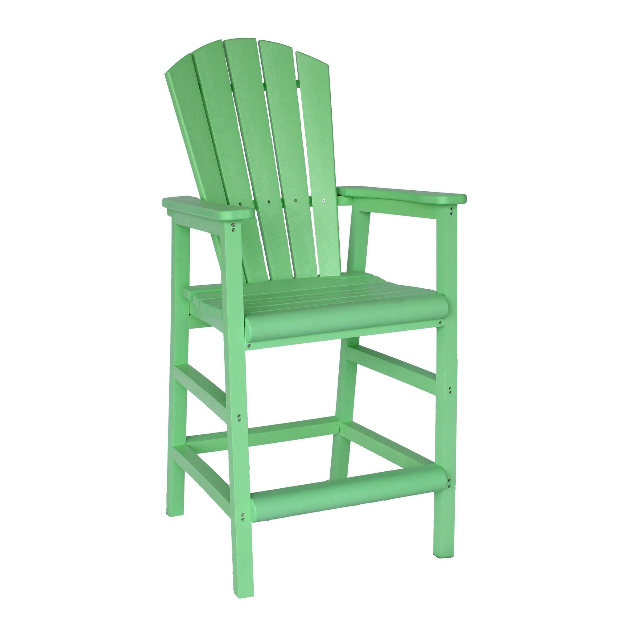 Lime Green Chairs Lime Green Poly Lumber Adirondack Pub Chair