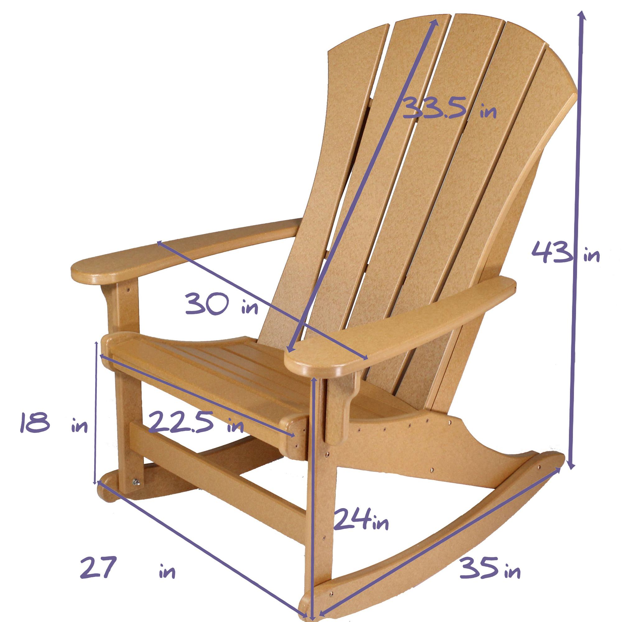 Lifetime Adirondack Chairs Durawood Sunrise Adirondack Rocker Black