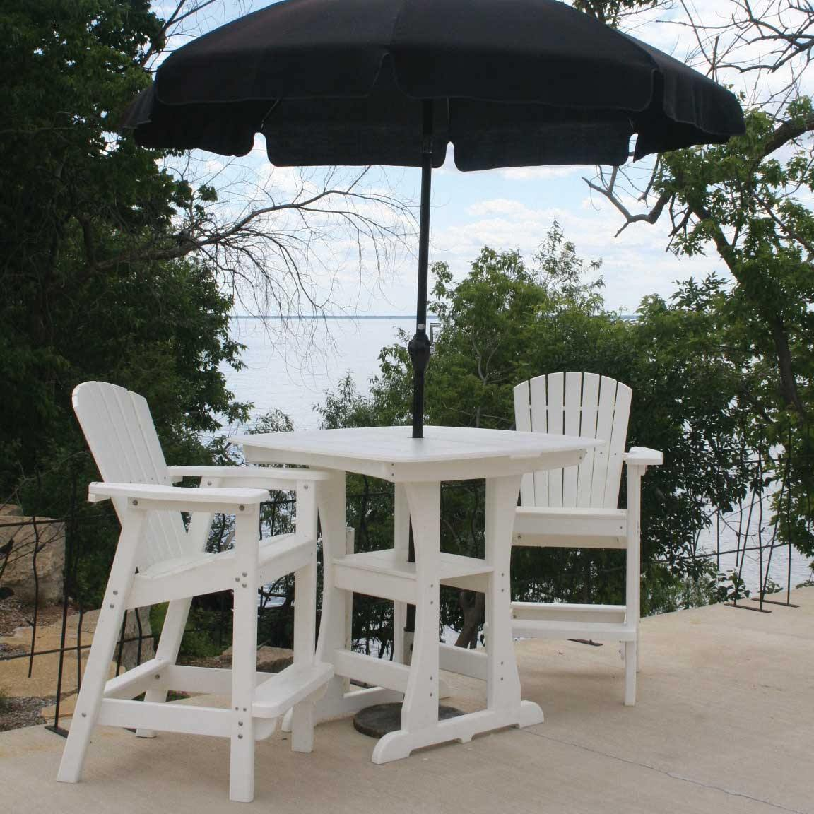 double adirondack chairs with umbrella aeron chair headrest bar height dfohome