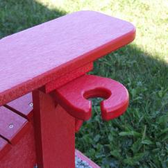 Wine Adirondack Chair Crate And Barrel Curran Poly Lumber Glass Holder Dfohome